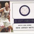 2002-03 FLEER PREMIUM A CUT ABOVE KETIH VAN HORN NETS GAME-WORN JERSEY CARD