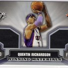 2005-06 SPX QUENTIN RICHARDSON KNICKS WINNING MATERIALS DUAL SHIRT AND WARM-UP CARD