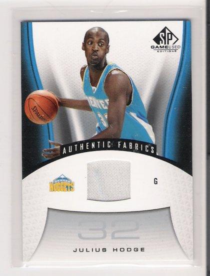 2006-07 SP GAME USED JULIUS HODGE NUGGETS AUTHENTIC FABRICS CARD