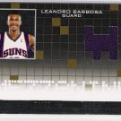 2007-08 TOPPS LUXURY BOX LEANDRO BARBOSA SUNS MEZZANINE RELIC JERSEY CARD #'D 74/99!