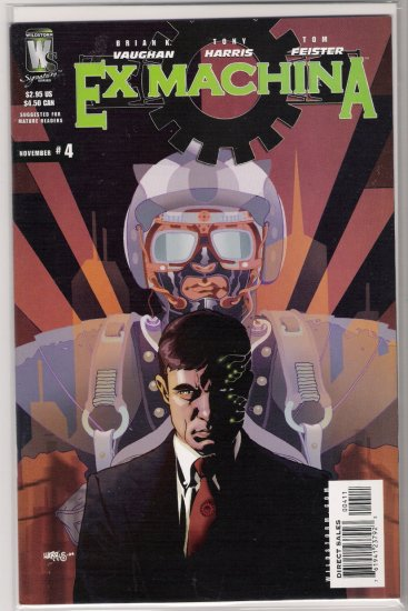 EX MACHINA #4 (2004) BRIAN K VAUGHAN-NEVER READ!