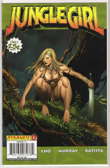 JUNGLE GIRL #0 FRANK CHO-NEVER READ!