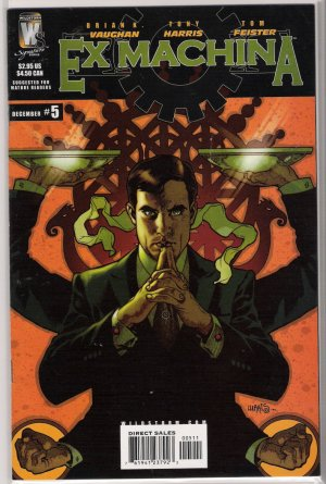 EX MACHINA #5 (2004) BY WILDSTORM COMICS BRIAN K VAUGHAN-NEVER READ!