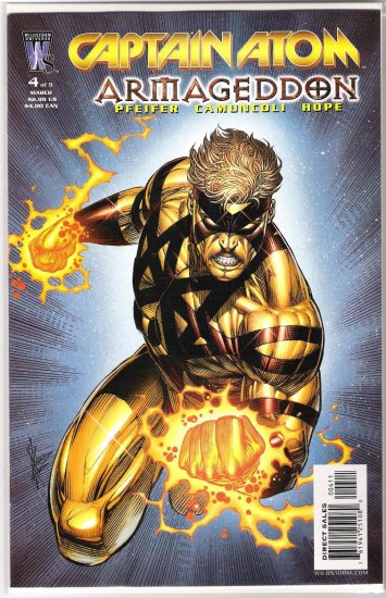 CAPTAIN ATOM ARMAGEDDON #4-NEVER READ!