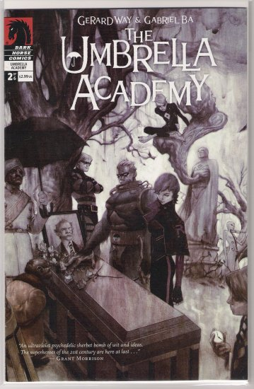 THE UMBRELLA ACADEMY #2 (2007) GERARD WAY-NEVER READ!
