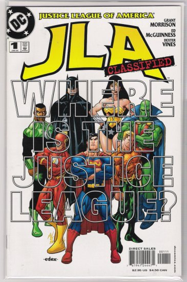 JLA CLASSIFIED #1 (2005) HEROES COVER-NEVER READ!