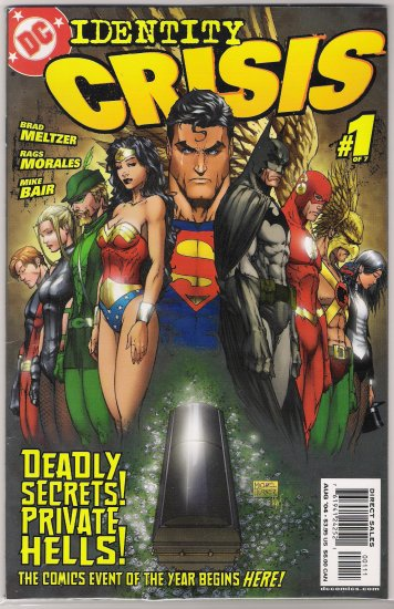 IDENTITY CRISIS #1 (2004) FIRST PRINT MICHAEL TURNER-NEVER READ!