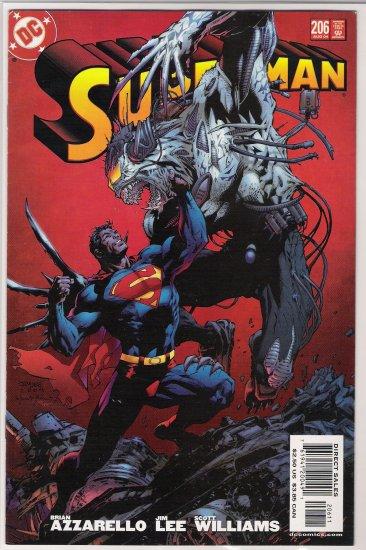 SUPERMAN #206 (2004) JIM LEE-NEVER READ!