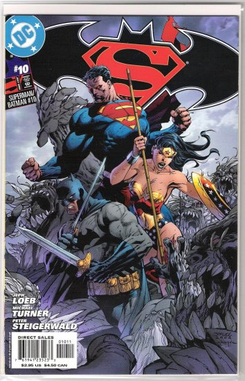 SUPERMAN/BATMAN #10 JIM LEE COVER-NEVER READ!