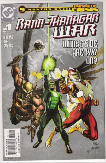 RANN-THANAGAR WAR #1 (2005) 2ND PRINT-NEVER READ!