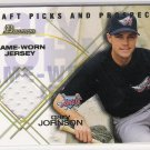2001 BOWMAN DRAFT PICS & PROSPECTS GARY JOHNSON ANGELS GAME WORN RELICS CARD