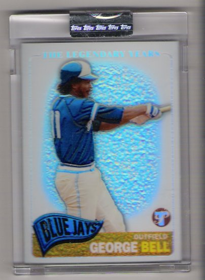 2005 TOPPS PRISTINE THE LEGENDARY YEARS GEORGE BELL BLUE JAYS UNCIRCULATED REFRACTOR CARD