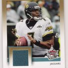 2007 FLEER ULTRA BYRON LEFTWICH JAGUARS FEEL THE GAME GAME USED CARD