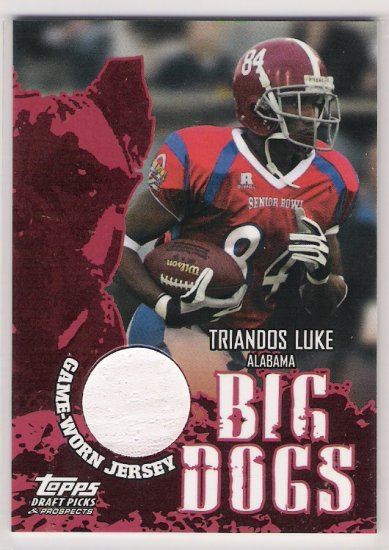 2004 TOPPS DRAFT PICKS & PROSPECTS TRIANDOS LUKE ALABAMA BIG DOGS JERSEY CARD