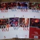 CIVIL WAR LOT 1,2,3,4,5,6,7 COMPLETE WITH OPENING SHOT SKETCHBOOK 1ST PRINTS-NEVER READ!