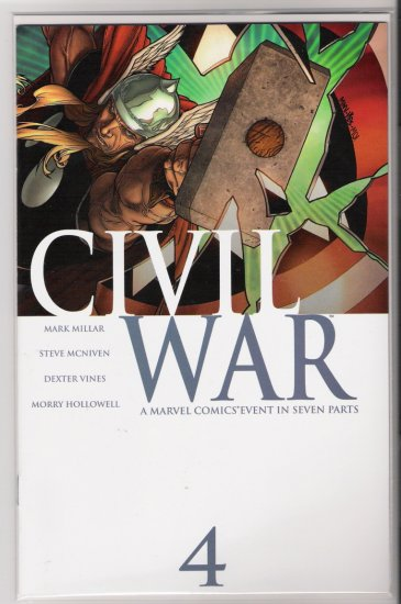 CIVIL WAR #4 FIRST PRINT-NEVER READ!