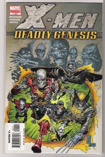 X-MEN DEADLY GENESIS #1 ED BRUKABER-NEVER READ!