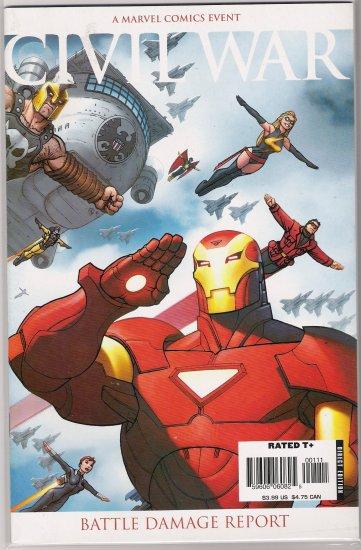 CIVIL WAR BATTLE DAMAGE REPORT  #1 (2007)-NEVER READ!