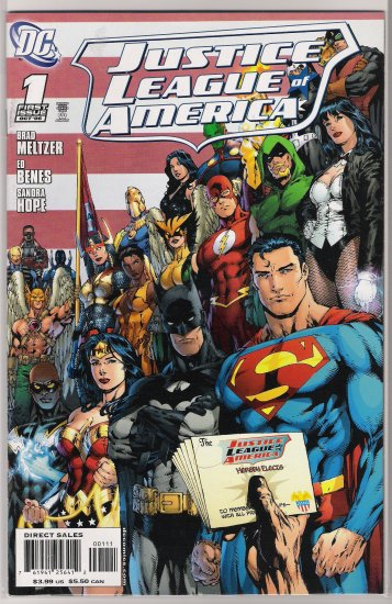 JUSTICE LEAGUE OF AMERICA #1B (2006)-NEVER READ!