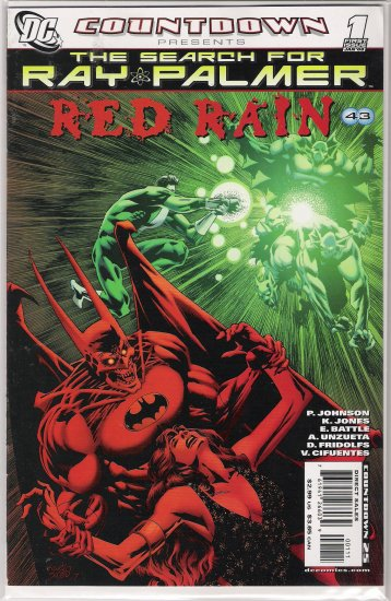 THE SEARCH FOR RAY PALMER RED RAIN #1 (2008)-NEVER READ!