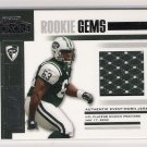 2003 PLAYOFF HONORS DEWAYNE ROBERTSON JETS ROOKIE GEMS JERSEY CARD