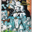 LADY DEATH THE CRUCIBLE 1/2 BY CHAOS COMICS/WIZARD WITH COA-NEVER READ!