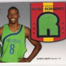 2005 SP SIGNATURE EDITION DONTA SMITH HAWKS ROOKIE RETRO REMNANTS JERSEY CARD