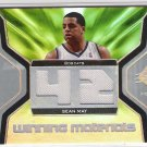 2007-08 SPX SEAN MAY BOBCATS WINNING MATERIALS JERSEY CARD