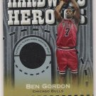 2005-06 TOPPS CHROME BEN GORDON BULLS HARDWOOD HEROICS SHOOTING SHIRT CARD