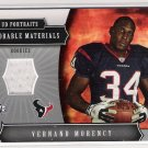 2005 UD PORTRAITS VERNAND MORCENCY TEXANS MEMORABLE MATERIALS ROOKIE JERSEY CARD
