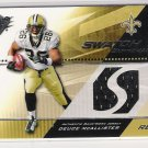 2004 SPX SWATCH SUPREMACY DEUCE MCALLISTER SAINTS GAME-USED JERSEY CARD