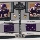 2005 PLAYOFF HONORS TROY WILLIAMSON/CIRTRIC FASON DUAL ROOKIE TANDEMS JERSEY CARD