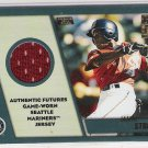 2001 TOPPS TRADED JAMAL STRONG MARINERS ROOKIE RELIC JERSEY CARD