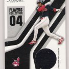 2004 PLAYOFF PRESTIGE JUAN GONZALEZ INDIANS PLAYERS COLLECTION GAME-WORN JERSEY CARD