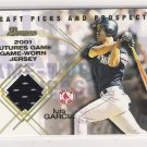 2001 DRAFT PICKS & PROSPECTS LUIS GARCIA RED SOX FUTURES GAME RELIC JERSEY CARD