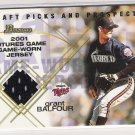 2001 BOWMAN DRAFT PICKS & PROSPECTS GRANT BALFOUR TWINS FUTURES GAME RELIC JERSEY CARD