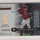 2001 PLAYOFF ABSOLUTE MEMORABILIA JOHNNY ESTRADA PHILLIES ROOKIE PREMIERE GAME USED BAT