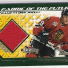 2002-03 TOPPS YOUNGSTARS TYLER ARNASON BLACKHAWKS FABRIC OF THE FUTURE GAME-WORN JERSEY
