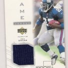 2001 UPPER DECK PROS & PROSPECTS RON DAYNE GIANTS GAME JERSEY CARD