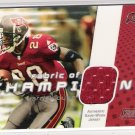 2002 TOPPS STADIUM CLUB WARRICK DUNN BUCCANEERS FABRIC OF CHAMPIONS JERSEY CARD
