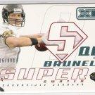 2002 UPPER DECK XL MARK BRUNELL JAGUARS SUPER SWATCH JERSEY CARD