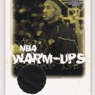2000-01 UPPER DECK ENCORE DERMARR JOHNSON HAWKS NBA WARM-UPS CARD