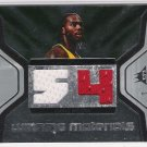 2007-08 SPX WINNING MATERIALS CHRIS WILCOX SONICS JERSEY NUMBER DUAL JERSEY CARD