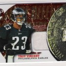 2002 TOPPS PRISTINE NICKEL PACKAGES TROY VINCENT EAGLES GAME WORN JERSEY CARD