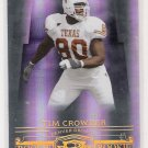2007 DONRUSS THREAD TIM CROWDER BRONCOS LIMITED ROOKIE CARD #'D 177/250!