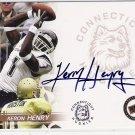 2005 PRESSPASS KERON HENRY HUSKIES AUTHENTIC AUTOGRAPHED CARD