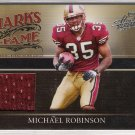 2006 PLAYOFF ABSOLUTE MEMORABLILIA MICHAEL ROBINSON 49ERS JERSEY CARD #'D 112/200!