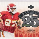 2006 UPPER DECK LARRY JOHNSON CHIEFS FANTASY TOP 25 INSERT