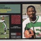 2001 FLEER TRADITION FREDDIE MITCHELL EAGLES ROOKIE RETRO THREADS USED FOOTBALL CARD