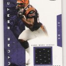 2003 FLEER HOT PROSPECTS KELLEY WASHINGTON BENGALS FUTURE SWATCH JERSEY CARD